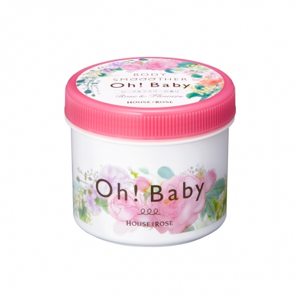 日本HOUSE OF ROSE OH!BABY 身体磨砂膏 350g 18年冬季限定玫瑰