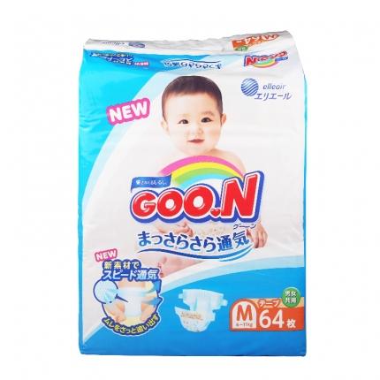 日本GOO.N大王 婴儿纸尿裤 M号 64片(两种包装随机发)