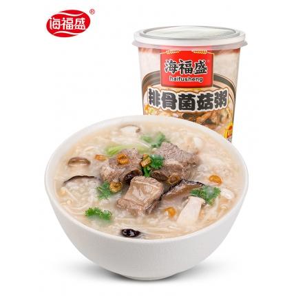 排骨菌菇粥