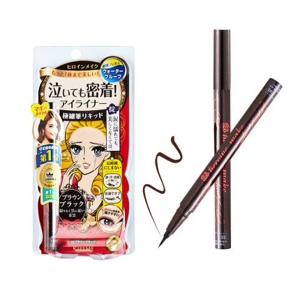 日本ISEHAN伊势半 KISS ME花漾美姬 极细眼线液笔 0.1mm #茶黑色