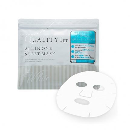 日本QUALITY FIRST 多效合一纳米补水白皙面膜 抽取式 白色 30片入