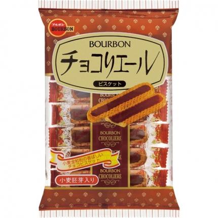 日本BOURBON波路梦 巧克力夹心饼干塔 110.6g