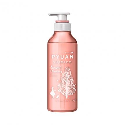 日本KAO花王 MERIT PYUAN 弱酸性无硅洗发水 425ml #粉色 黑醋栗