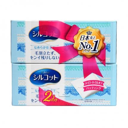 【2盒装】日本UNICHARM尤妮佳 SILCOT超柔软化妆棉 82枚入