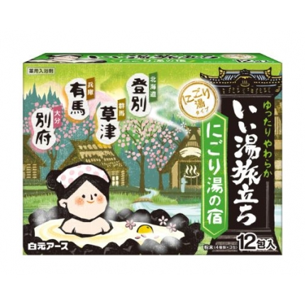 日本白元 温泉之旅系列 入浴剂 25g*12袋 #绿盒
