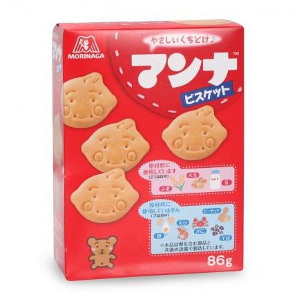 日本MORINAGA森永 蒙奈磨牙饼干 MANNA BISCUITS 86g