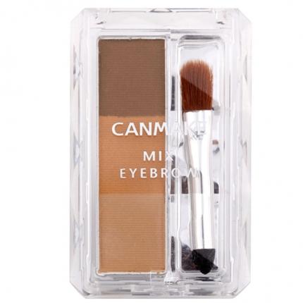日本CANMAKE井田 自然三色立体眉粉 #06蜂蜜棕
