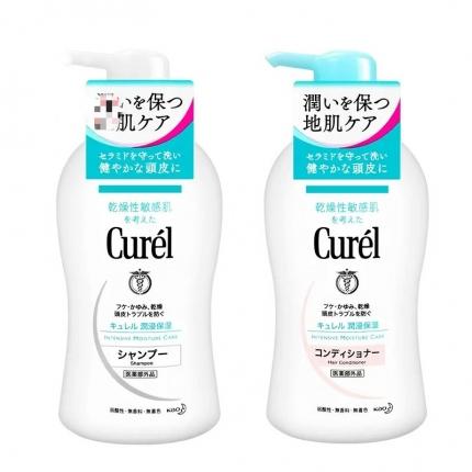 日本CUREL珂润 浸润保湿洗发水护发素 450ml