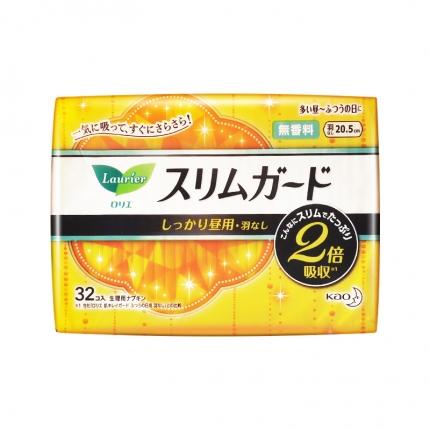 日本KAO花王 LAURIER乐而雅 零触感系列卫生巾 20.5cm*32片