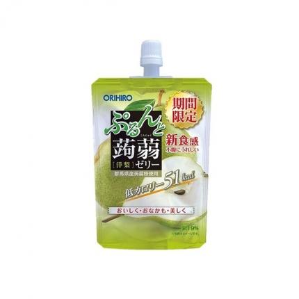 日本ORIHIRO立喜乐 可吸蒟蒻果汁果冻 梨味 130g