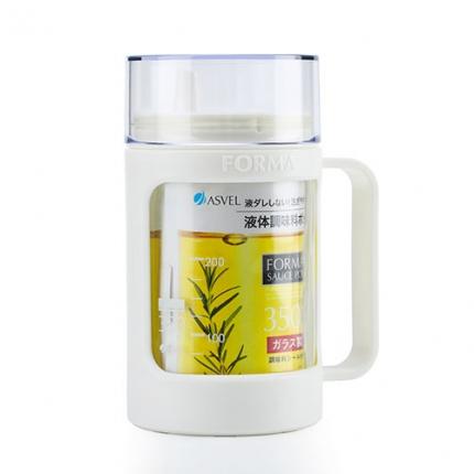 日本ASVEL 玻璃油壶罐 白色 350ml