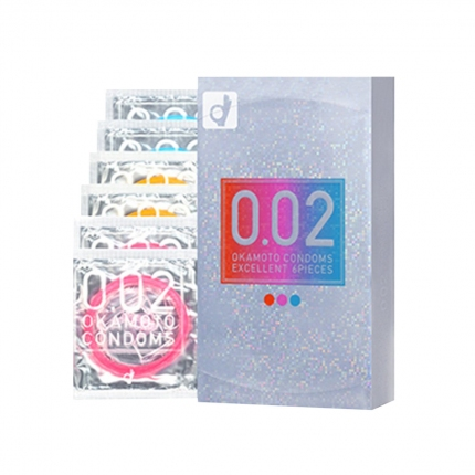 冈本 002 EX系列 三色装 6只入
