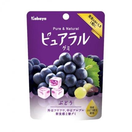 日本KABAYA 方块软糖 葡萄味 45g