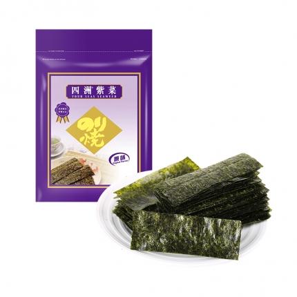 四洲 紫菜 人气即食海苔 75g 超大袋 内含100小包