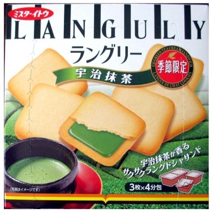 日本ITO伊藤 LANGULY夹心饼干 宇治抹茶 季节限定 12枚入