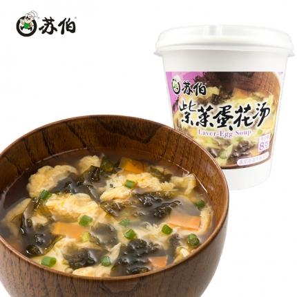 苏伯 紫菜蛋花汤 杯装 8g