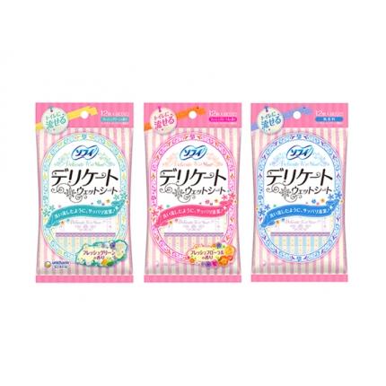 日本UNICHARM尤妮佳 私处清洁湿巾 12枚