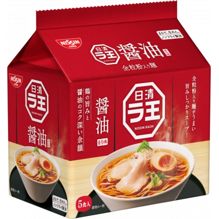 日本NISSIN日清 拉面王 酱油味 86gx5袋