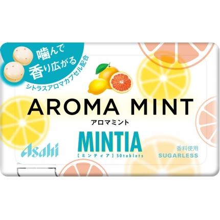 日本Asahi MINTIA AROMA MINT 葡萄柚柠檬薄荷糖 7g 50粒入