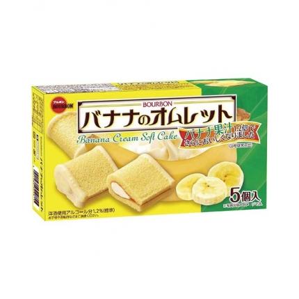 日本BOURBON波路梦 香蕉奶油软绵蛋糕 5个入