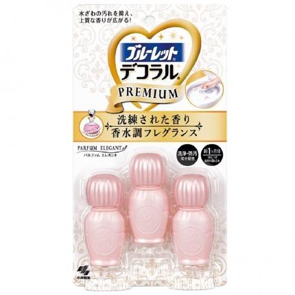日本KOBAYASHI小林制药 马桶开花清洁凝胶 杏色 香水级优雅花香