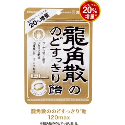 日本龙角散 润喉糖 蜂蜜牛奶味 120max 88g