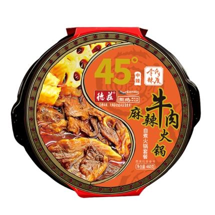 德庄 麻辣牛肉自热火锅 45°中辣 460g