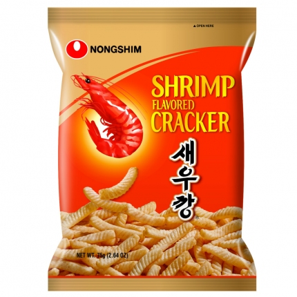 韩国NONGSHIM农心 香脆美味虾条 原味 75g